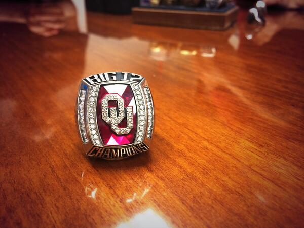 "Oklahoma Rowing on Twitter: ""2014 Big 12 Championship Ring ..."