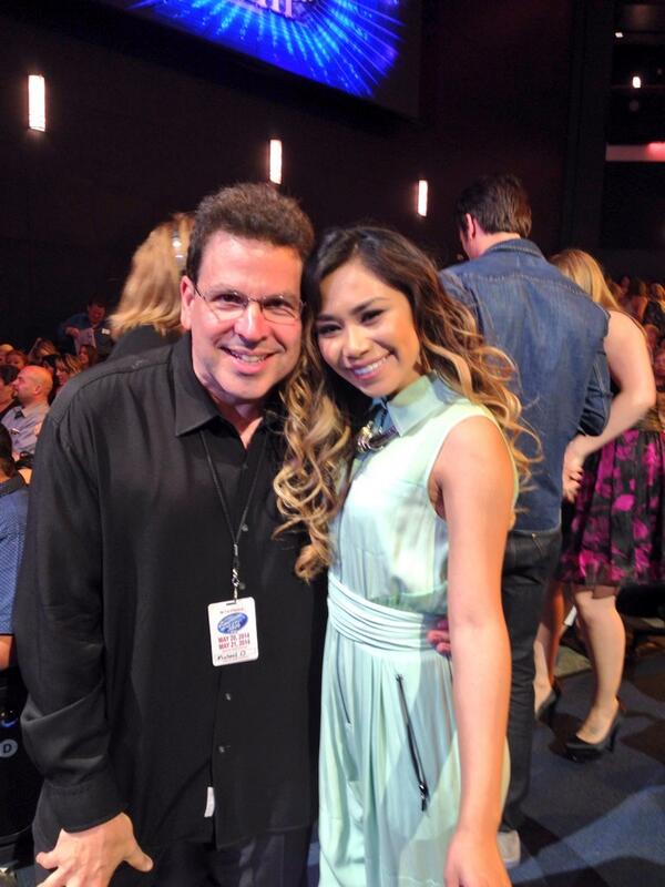 """@MichaelOrland: Look who's here. My girl @JessicaESanchez love u so much @AmericanIdol #IdolFinale http://t.co/ChG5kWwOnX"