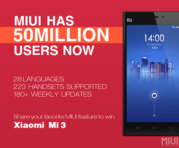 Follow @miuirom and Retweet this for a chance to win a Xiaomi Mi3 phone! More prizes here: http://t.co/aBmzZq55fq http://t.co/2KKBeVrMjh