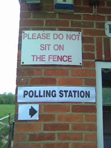 This signage captures things perfectly. #remembertovote http://t.co/imJ4Q68qBY