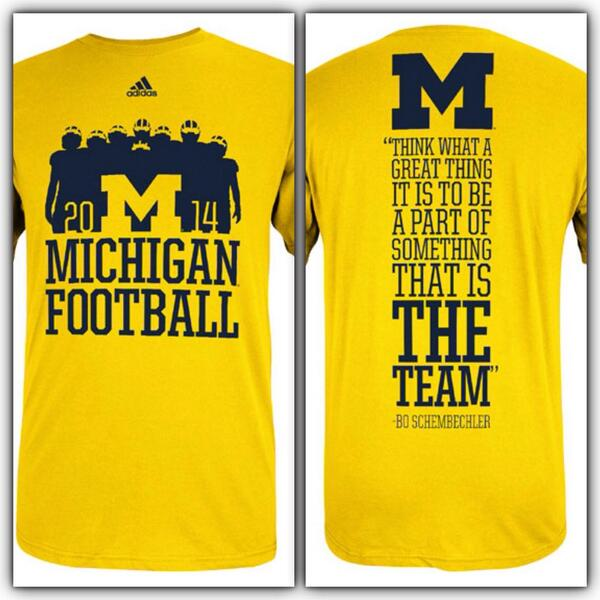 2014 @adidasUS @umichfootball season tees have arrived! Order NOW: http://t.co/MM8yacHQgs #GoBlue http://t.co/uhla61actf