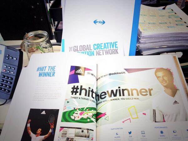 New coffee table book thanks to @irisworldwide my favourite page @andy_murray #innovation #creative #hitthewinner http://t.co/f68bw0pW3n