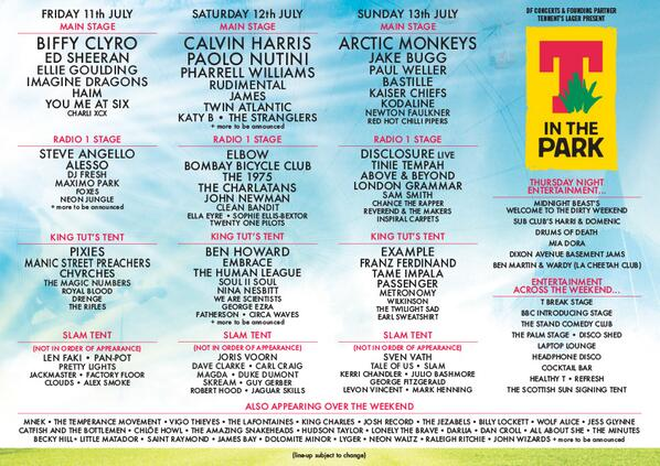T In the Park 2014 | Lineup | Tickets | Prices | Dates | Video | News | Rumors | Apps