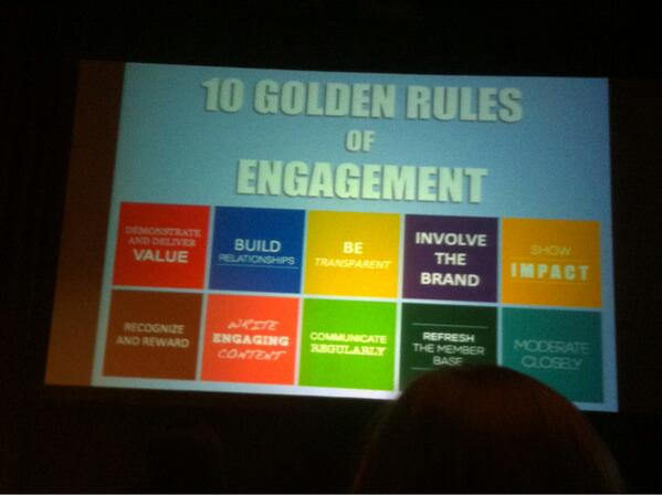10 Golden Rules of Engagement (which is actually pretty hard to define) @clarke_d #CM1TO http://t.co/yYV6bOY7Yc