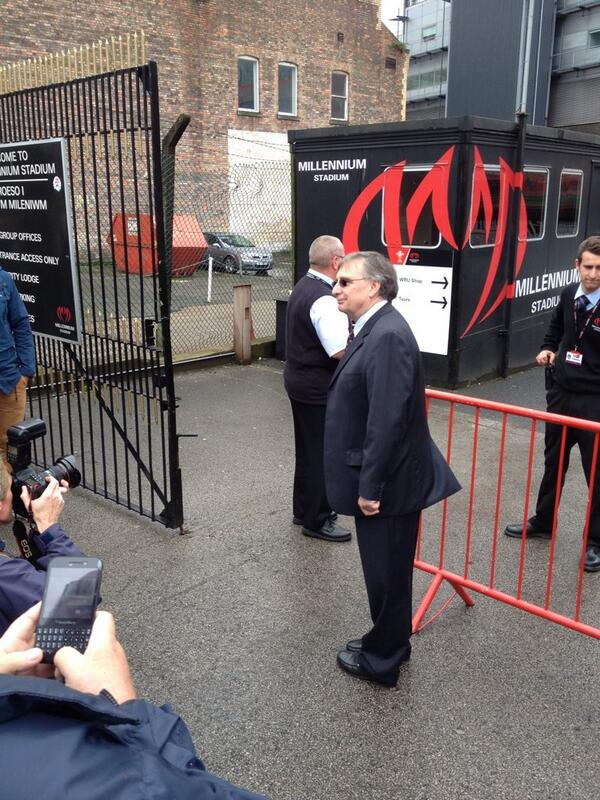 WRU refused him entry ... You can't make it up! http://t.co/34fFlfdroF
