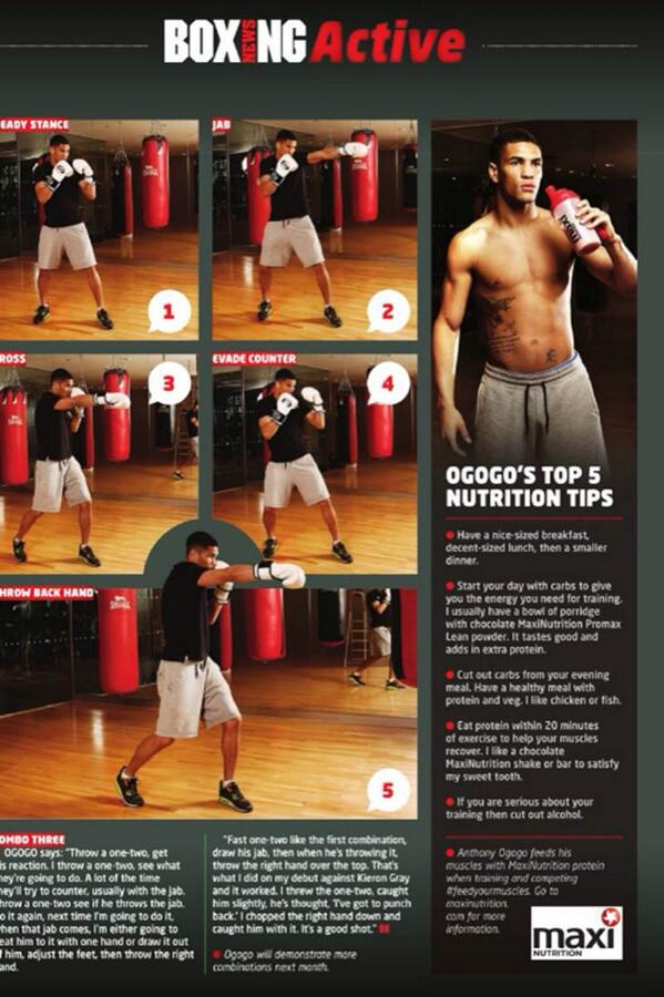 Great feature with @AnthonyOgogo in @BoxingNewsED today for @MaxiNutrition http://t.co/5pxwE8xTZ3