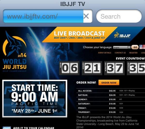 http://t.co/npSf7fQga5 is the place to be for the 2014 @ibjjf Worlds PPV! Head over there now & secure your spot! http://t.co/Wko7kAqpen