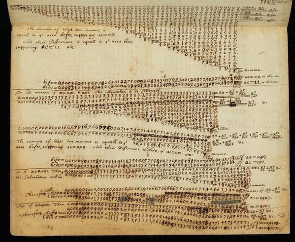 Twitter / jerrysaltz: Notebook of Sir Isaac Newton. ...