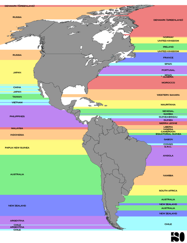 This map shows Americans what's on the other side of the ocean: http://t.co/K2AroWJRvP http://t.co/DOn7d4uIcs