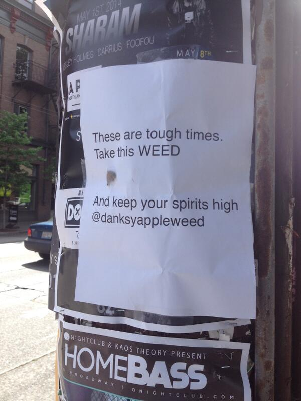 'Weed Fairy' Leaving Free Pot Around Seattle