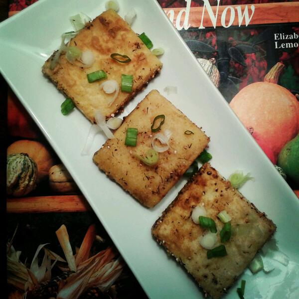 I've been experimenting with Burmese tofu. Deeelicious! http://t.co/o3fKQu8d0B