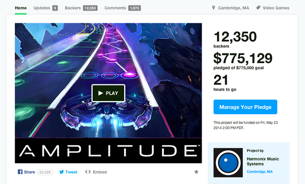 WE DID IT! WE DID IT! AMPLITUUUUUUDE!!! Congrats so hard @Harmonix! :D http://t.co/CA9SKTysHo