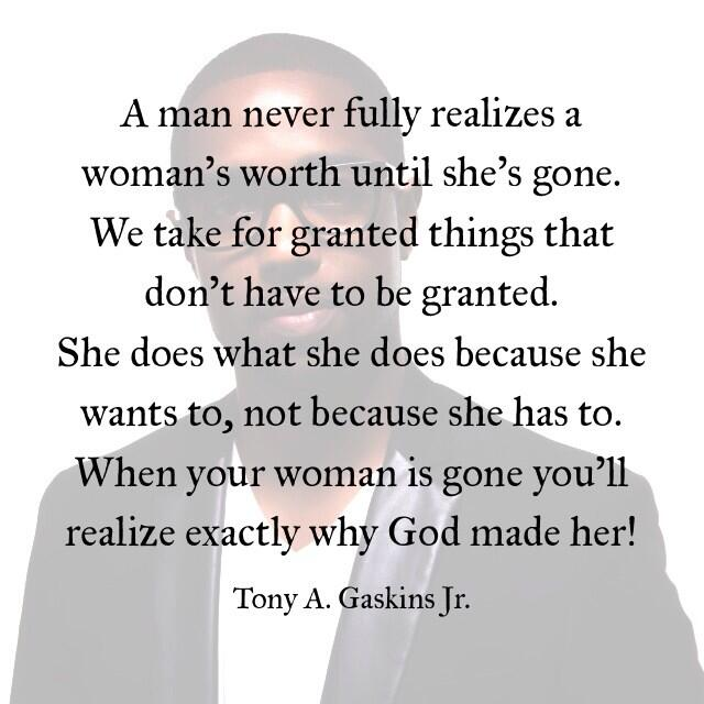 """I Appreciate You Quotes For Her: Tony A. Gaskins Jr On Twitter: """"Appreciate Her Or You'll"""