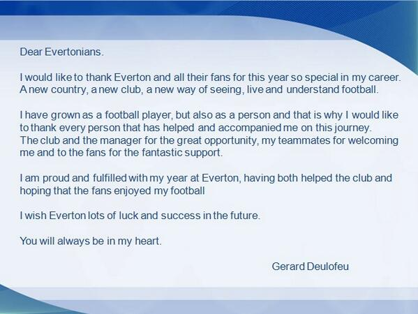 Upon leaving Everton, Barcelonas Gerard Deulofeu posts emotional goodbye message on Twitter