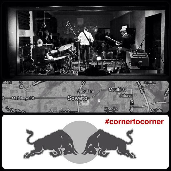 We're doing @RedBullZA's #cornertocorner today. Catch us at Bara Taxi rank in Soweto at 3:30 pm for a street jam! http://t.co/UQv7kwMLqi