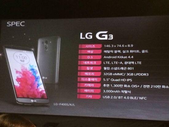 Thumbnail for LG G3 live blog