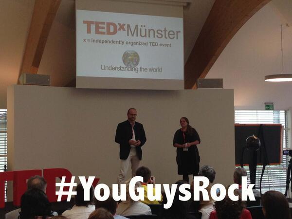 #TEDxMS #TEDxMuenster YOU GUYS ROCK!!! http://t.co/JqkEtvfnP3
