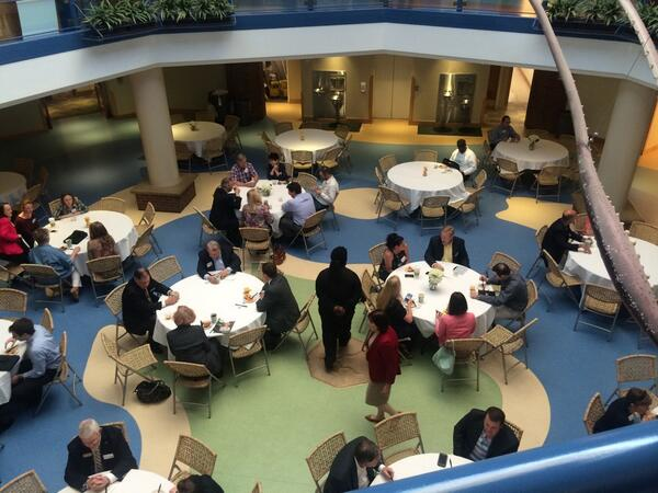 The magic words: coffee, continental breakfast, and networking before out #STEMSTL seminar this morning! http://t.co/JTgnzaFopy