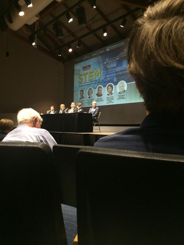Growing innovation in Stl panel discussion this am. Excited for what's to come #STEMSTL http://t.co/R6Hkdm6K5d
