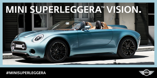 Built by hand, created by MINI and Touring Superleggera. #MINISuperleggera http://t.co/LFl8wxE2sR