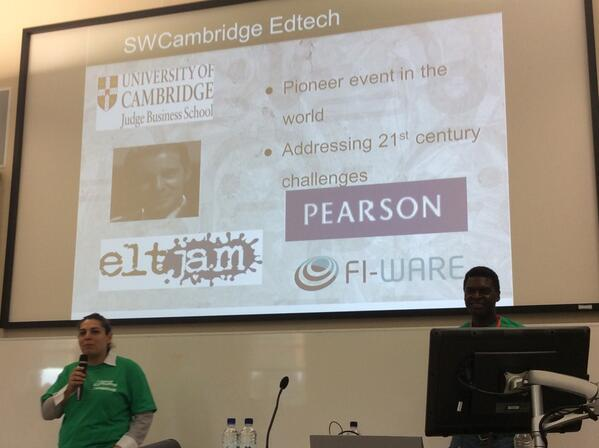 Introductions being made by @HanadiJabado for the #swcambridge #edtech @StartupWeekend http://t.co/n63YRPf4n4