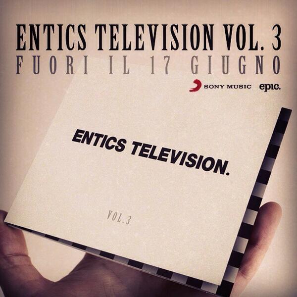 Entics Television Vol.3 fuori il 17 giugno. #etv3 #entics #17giugno #nuovoalbum http://t.co/ddDH0HusbO
