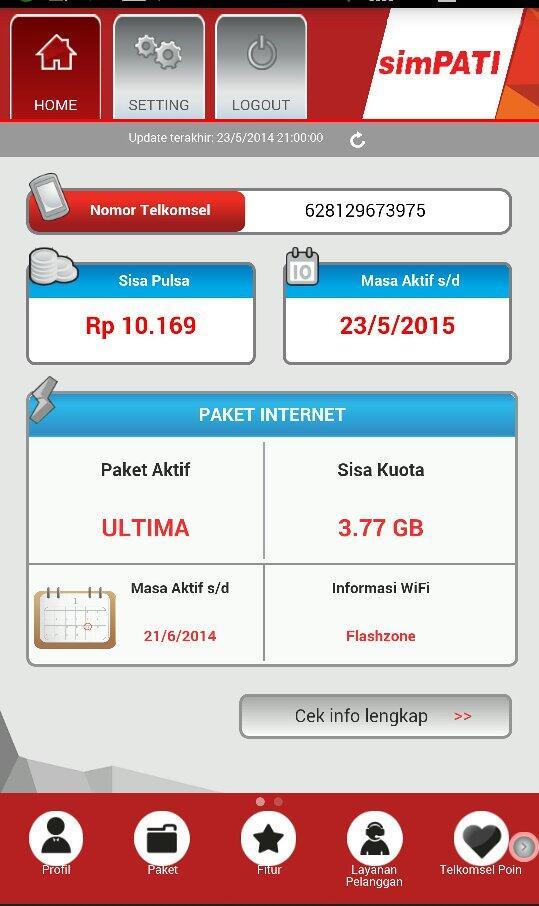 Informasi Paket Internet