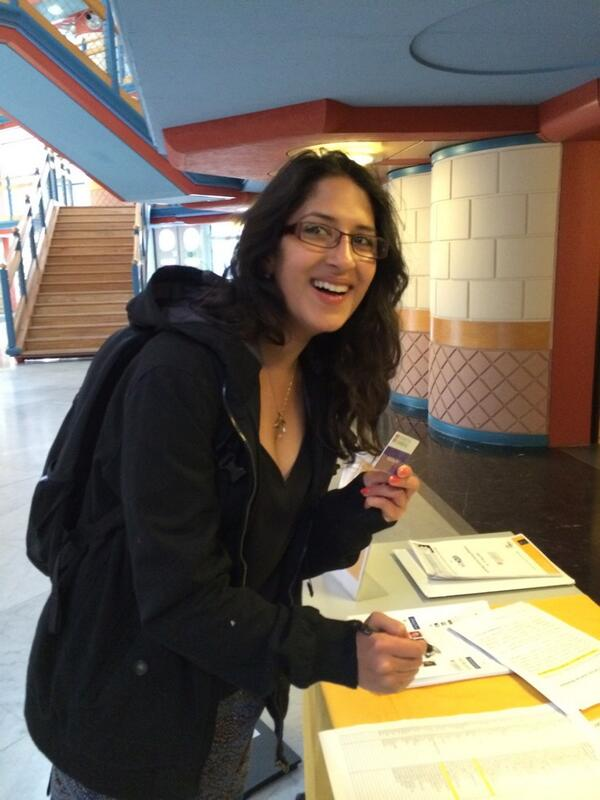 And our first delegate to sign in! @anikasaigal #swcambridge http://t.co/cH4zQLtZkg