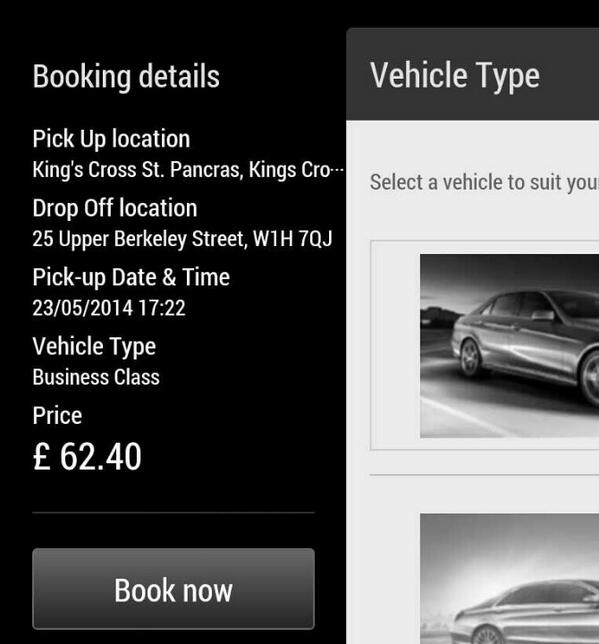 In a London Taxi Cab this ride from @StPancrasInt to Marble Arch is £13.40. But its a free-ish world! http://t.co/9hEnu60YLn