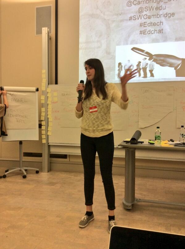 Erin - augmented reality textbooks with integrated video that comes to life on the page #swcambridge http://t.co/3sOvtXfaA3