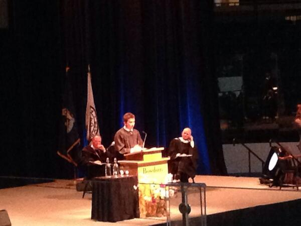 "Nice job Sam! ""@BowdoinCollege: Sam Burnim '14 speaks about Thorndike Oak during Baccalaureate #Bowdoin2014 http://t.co/xUnallm5sL"""