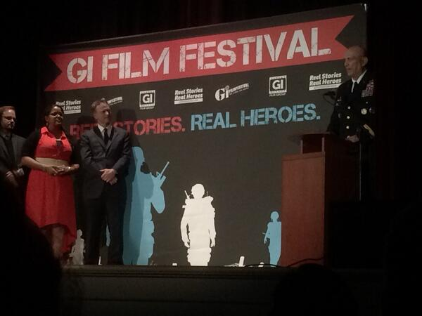 Well hello, Gen Odierno! Thanks for coming to @gifilm to recognize James Gandolfini with an award! #fb #giff14 http://t.co/iR5pZFqC3Z
