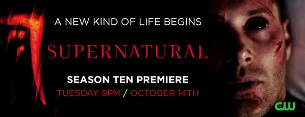 Here is Season 10 Promotional Banner of #Supernatural - Are you excited? http://t.co/NI9DOGljjI