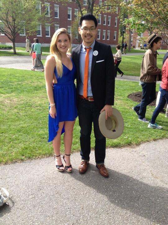 Stylish Polar Bears Kelsey Goodwin '15 and James Ha '10 turned out @BowdoinCollege commencement #Bowdoin2014 http://t.co/jP0yUqDKZg