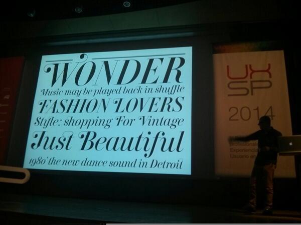 Andreu en la charla UXSpain