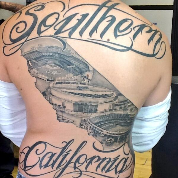 Killer Tattoos On Twitter Southern California Stadiums At Dodgers