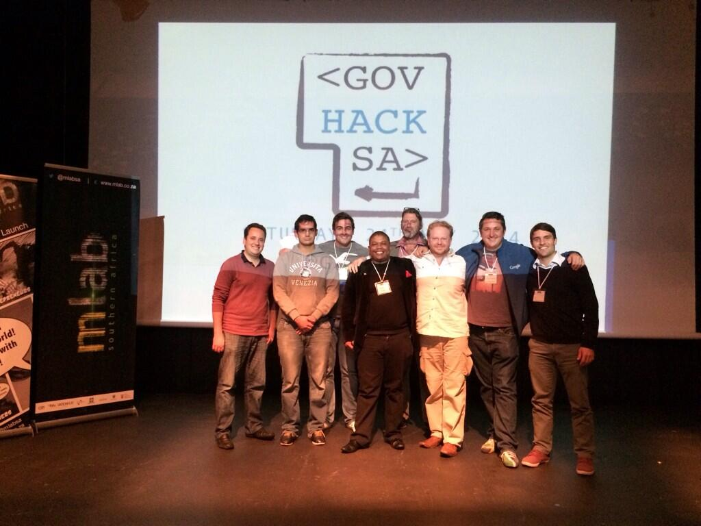 #govhacksa  cape town winners