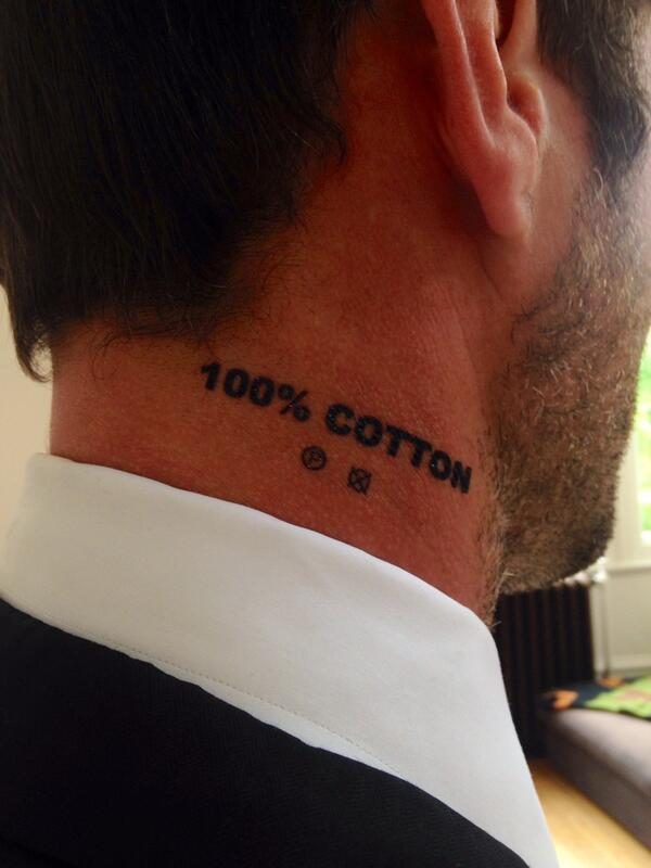Tattoo as promised. Right. Let's go clean up at the Soap Awards ;-) @SoapAwards @bbceastenders #100%Cotton http://t.co/ueoPV5qzIK