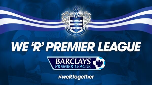 The full time whistle has blown at @wembleystadium ... WE 'R' PREMIER LEAGUE! #QPR #weRtogether http://t.co/FHPggEvPtd