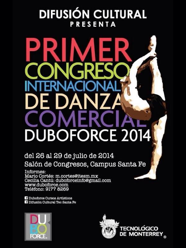 """""""@duboforce:  Congreso Internacional de Danza Comercial DUBOFORCE  26 - 29 de julio. http://t.co/JBJIRimQCj RT http://t.co/MFeQ2PSrTc"""""""