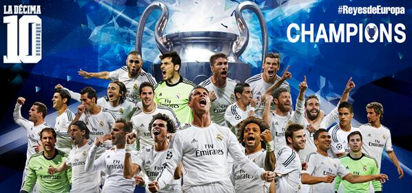 KINGS OF EUROPE!!! #ReyesDeEuropa #UCLFinal #Halamadrid http://t.co/xLlK78mijH