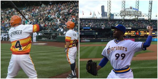 """2d9c0c68db6 """" MLB  The  astros and  Mariners have that throwback thing going on tonight.  pic.twitter.com bR8WyLFiiP"""" love throwbacks"""