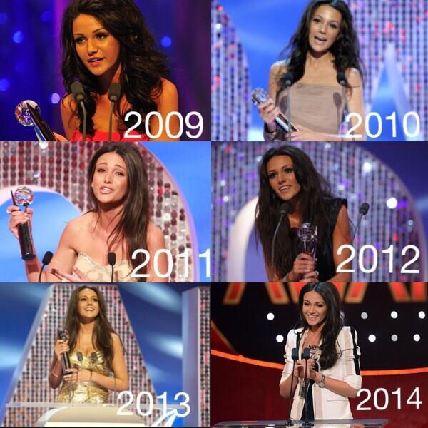 6 Sexiest Female awards 2009-2014