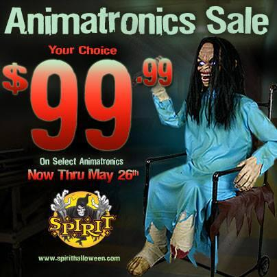 spirit halloween on twitter save 50 off select animatronics click here now and save httptcodykzzjlbtd halloween shopping - Spirit Halloween Animatronics