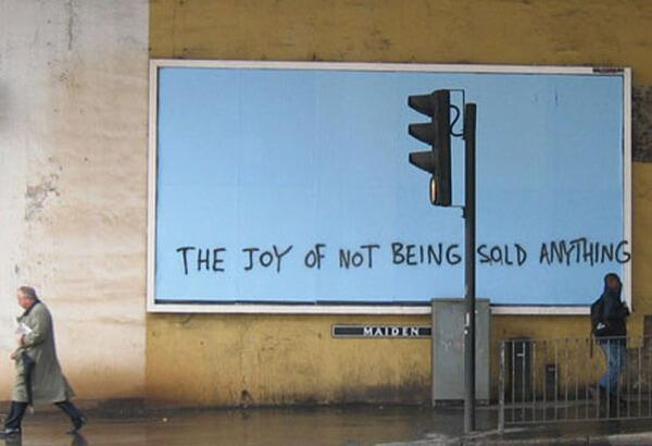 """The Joy of... not being sold anything http://t.co/0l3JtEpGLf"""