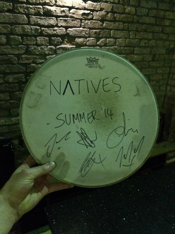 SLAM DUNK SOUTH: We play the @cheerupclothing stage at 4:10 today. RT for a chance to win this signed drum skin. http://t.co/BNArHJurGn