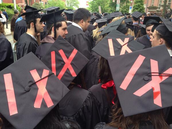Lining up for #Brown2014 commencement #imaginerape0 #BrownUniversity http://t.co/hvkXdbAlGL