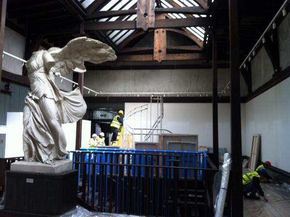 Glasgow School Art ‏@GSofA Photo: The Mackintosh Museum, Winged Victory surveys the intact gallery. pic.twitter.com/KsKTVdATeW