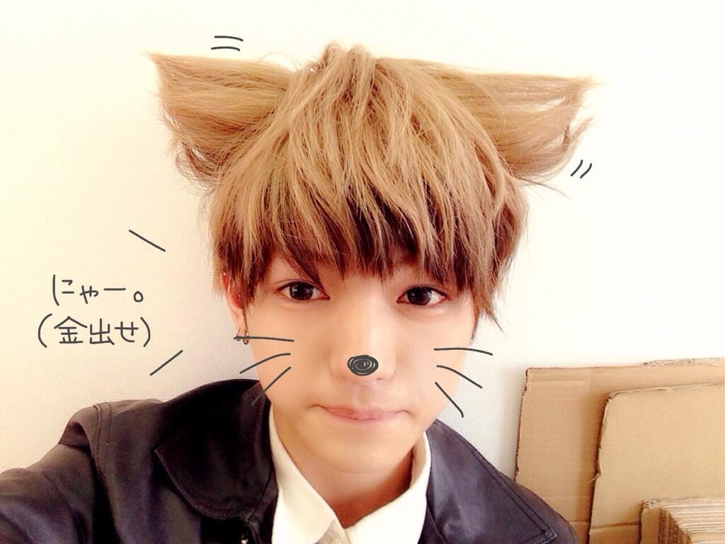 猫耳,髪型,男