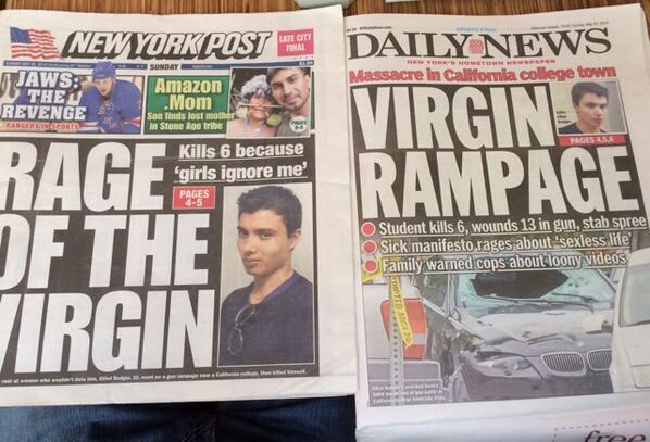 ロスの乱射事件の見出しが童貞童貞書き過ぎ。 http://t.co/0Gzrta7opf